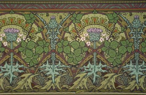 arts and crafts wallpaper borders thistle berry frieze tall wallpaper border 27 quot high