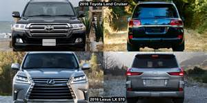 Toyota Land Cruiser And Lexus Lx 570 Benim Otomobilim 2016 Lexus Lx 570 Vs 2016 Toyota Land