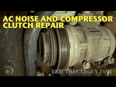 auto air conditioning service 2011 acura tl engine control ac clutch repair and noise diagnosis ericthecarguy youtube