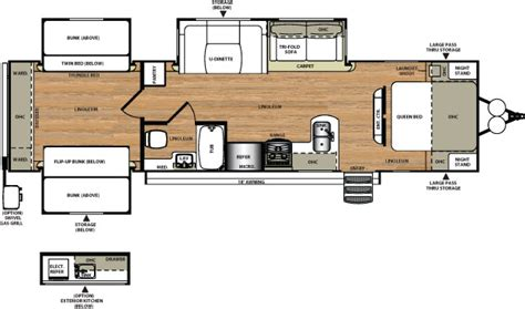 travel trailer bunkhouse floor plans heritage glen 311qb quad bunk house wildwood
