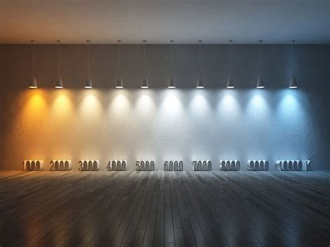 led light bulb color temperature chart led colour temperature comparison of white light options