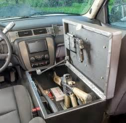 Ideas For Truck Accessories Console Gun Bunker For Auto Stashvault