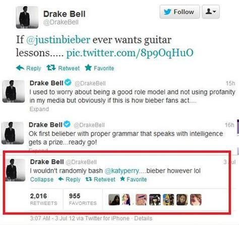 twitter drake drake bell vs beliebers chs new media 2012 2013