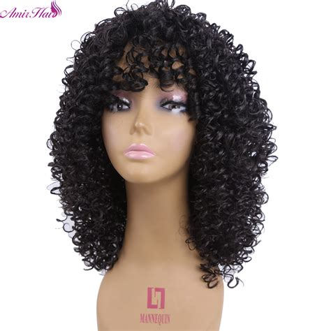 pictures for medium length hairstyles using kinky hair customer has thinning hair in the top amir hair medium length kinky curly synthetic wigs for
