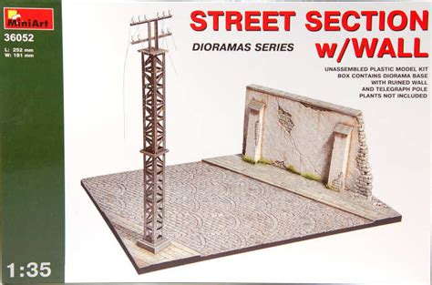 massachusetts section 35 miniart 36052 1 35 street section with wall kit first look