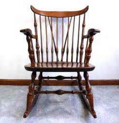 nichols and style wooden rocking chair ebth