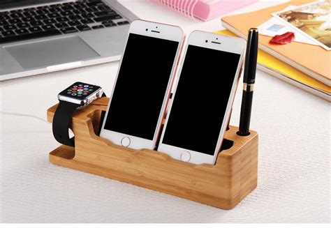Will The Real Iphone Stand Up Chip by Kisscase Universal Phone Holder Real Wooden Mobile Phone