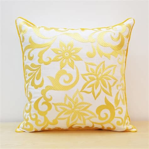Pillow Cover Design by Damask Design With Pattern Embroidery Pillow Cover