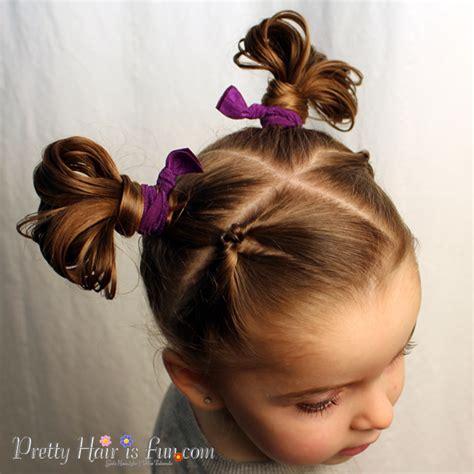 pretty hair  fun fan buns pretty hair  fun girls
