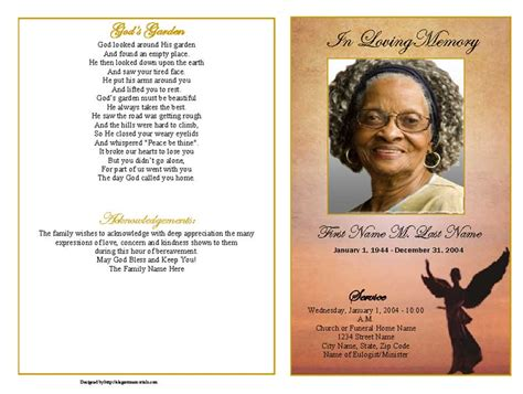 funeral programs template funeral program template beloved graduated fold