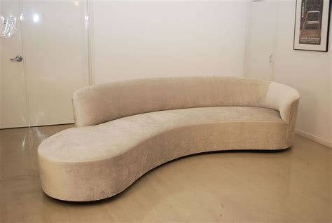 sofa curved classic design vladimir kagan inspired curved sofa