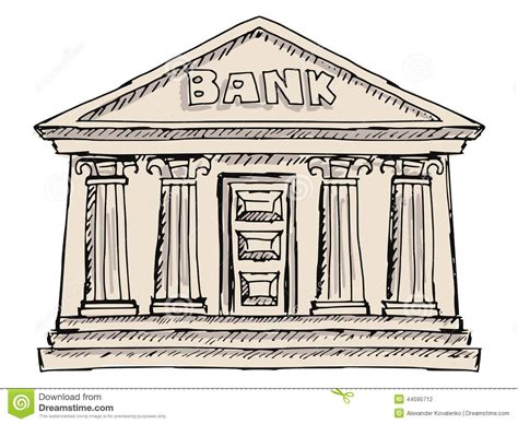 altae banco building of bank stock vector image 44595712