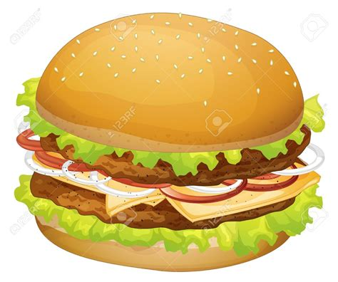 hamburger clipart no hamburger bun food clipart
