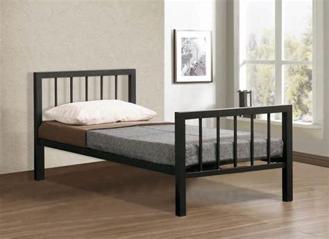 black metal bed time living metro 3ft single black metal bed frame by time