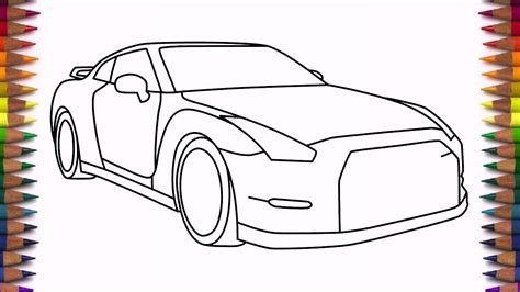nissan skyline drawing step by step how to draw nissan gtr step by step drawing a car youtube