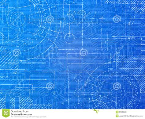 blueprint design technical blueprint stock illustration illustration of