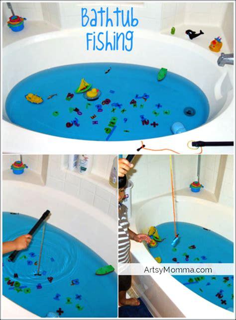 Bathtub Fishing Make Your Own Fishing Game Artsy Momma