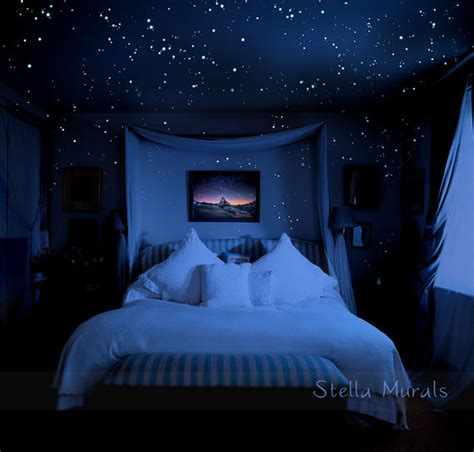 glowing stars for bedroom glow in the dark star stickers 200 1000 stickers diy 3d