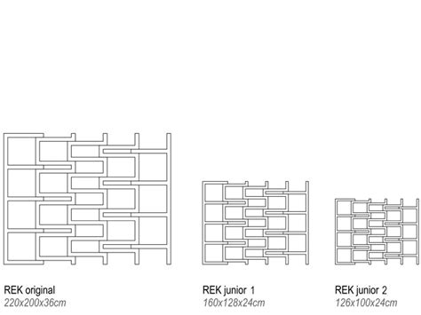 rek bookcase versatile and lightweight rek bookcase jr by reinier de