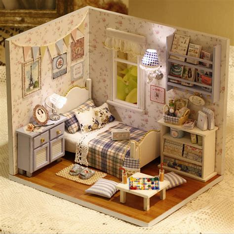 minature doll house furniture mini puzzle model handmade dollhouse creative birthday gift sunshine full diy wooden