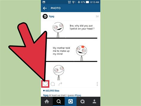 How To Find On Instagram How To Unlike An Instagram Post 3 Steps With Pictures