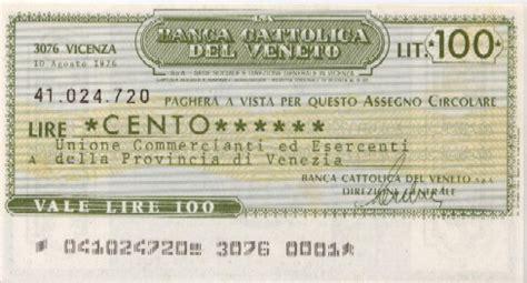 banca cattolica banca cattolica veneto la lira banconote monete e