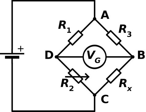 bridge resistor formula wheatstone bridge