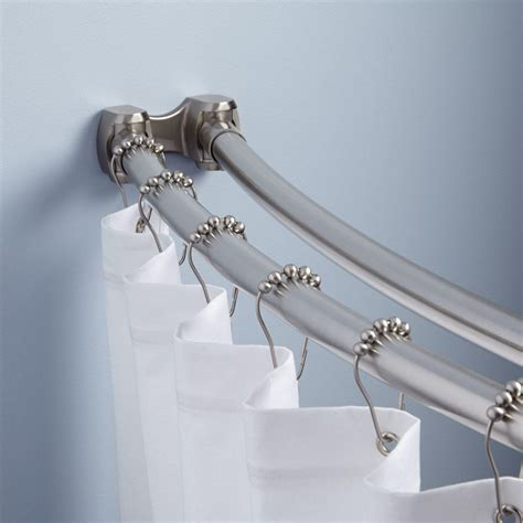 bathroom rods curved shower curtain rod bathroom