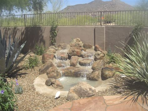 arizona living backyard waterfalls  phoenix water
