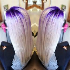Blonde hair make you surprise beautiful purple crown lights by stylist