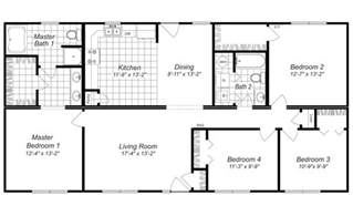 4 Bedroom House Plan Modern Design 4 Bedroom House Floor Plans Four Bedroom
