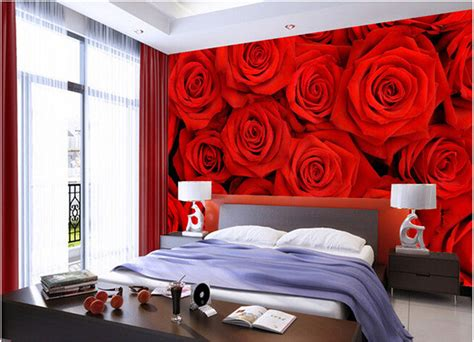 3d wall painting for your bedroom 3d wallpaper bedroom mural roll modern embossed red rose