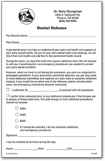 Consent Forms Smartpractice Veterinary Veterinary Release Form Template