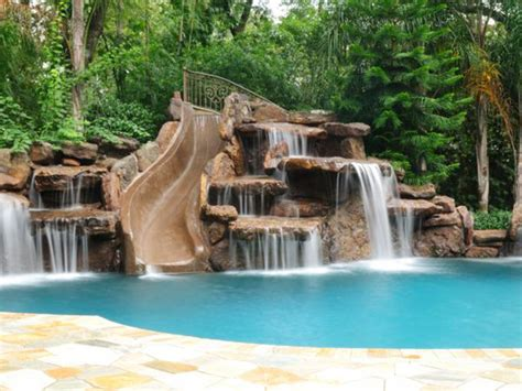 rock waterfalls for pools swimming pool pictures photos platinum pools