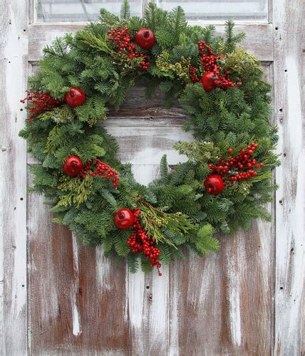 live christmas wreaths fraser fir wreaths