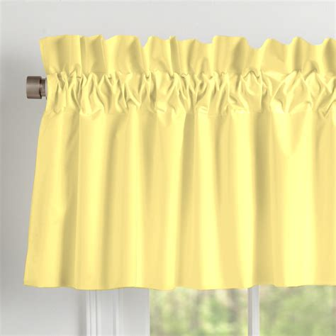 Yellow Valance solid banana window valance rod pocket carousel designs