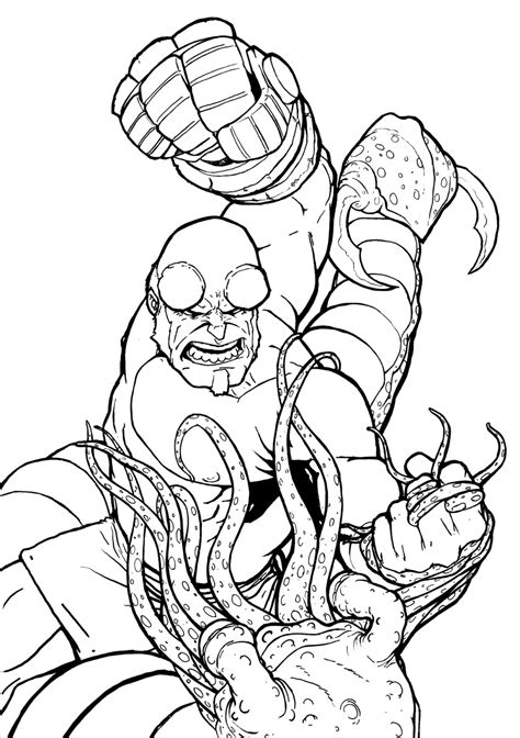 Hellboy Coloring Pages hellboy 20 superheroes printable coloring pages