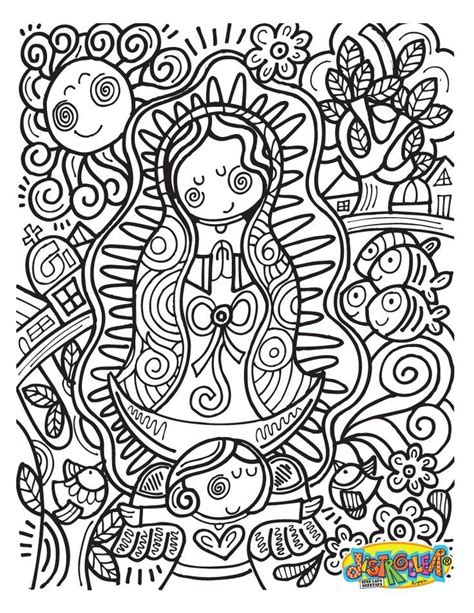 Document Our Lady Of Guadalupe Coloring Page Our Lady Of Our Of Guadalupe Coloring Page