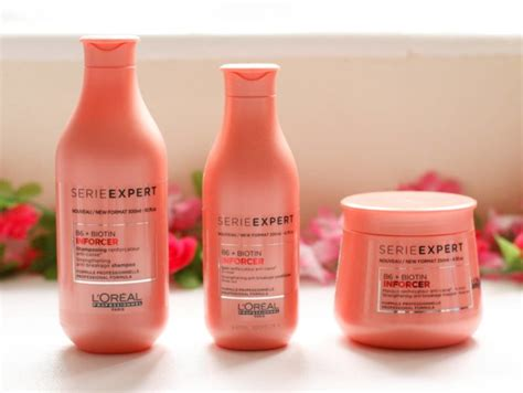 Sho Loreal Expert l oreal serie expert inforcer vitamin b6 biotin shoo conditioner and masque review