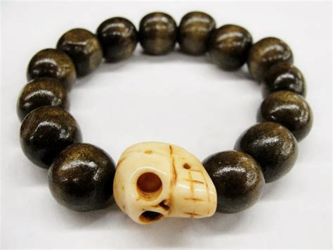 Handmade Wooden Bracelets - skull season our limited handmade wood bone