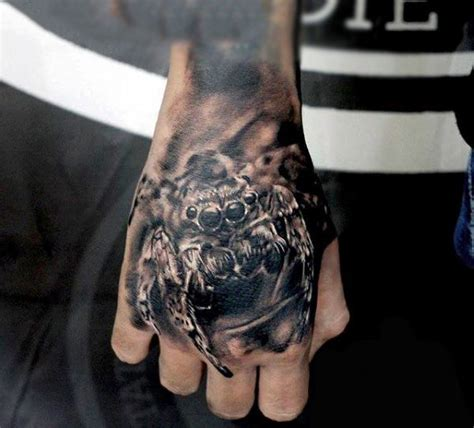 spider tattoo on hand gang 100 spider tattoos for men a web of manly designs