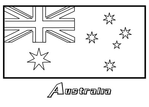 australian flag template to colour australia flag coloring page coloring book