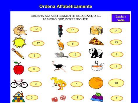imagenes en ingles en orden alfabetico actividades 2b sustantivos comunes y orden alfabetico