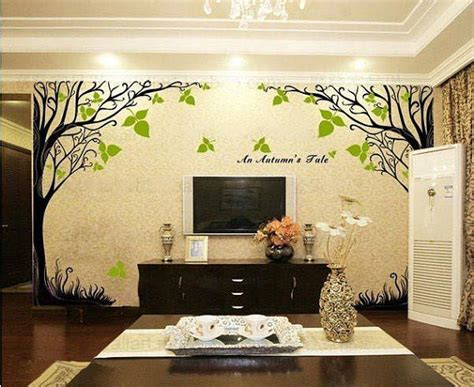 tree home decor a autumn s tale tree wall sticker home decorating photo