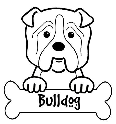 bulldog coloring sheets free coloring pages of baby bulldog
