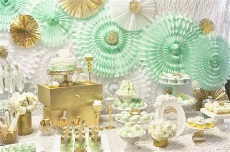 party themes gold kara s party ideas mint and gold party planning ideas