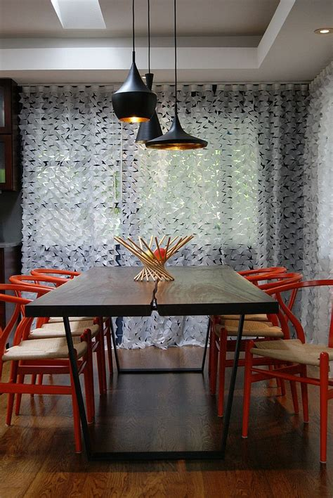 trendy dining rooms  spunky orange