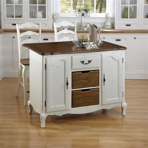 french kitchen islands home styles oak and rubbed white french countryside