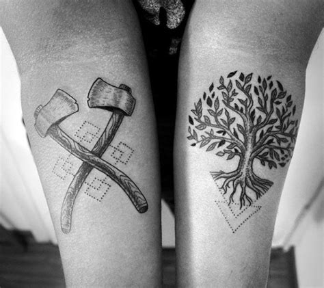 cool tree tattoos 50 oak tree designs for leaves and acorns