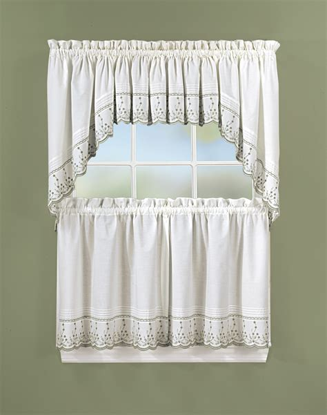 kitchen curtain abby 5 kitchen curtain tier set curtainworks